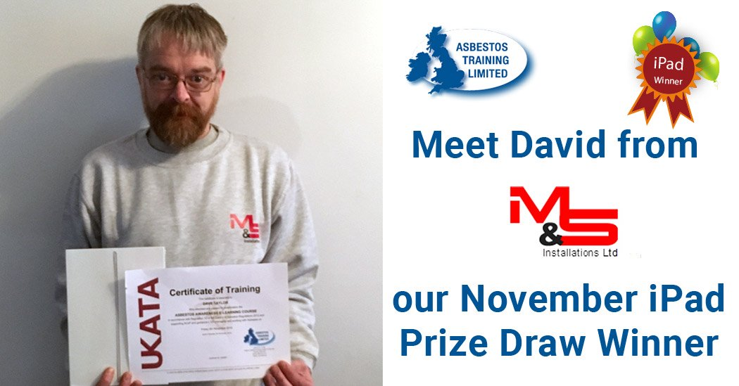 Our November iPad Prize Draw Winner